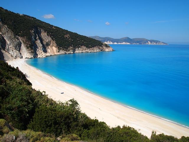 Myrtos plaža kefalonija